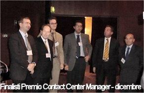 Finalisti Premio Contact Center Manager - dicembre